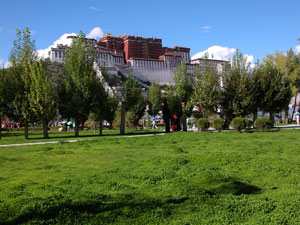 Lhasa, Tibet - Potala from the New Park