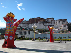 Lhasa, Tibet - New Decoration Along the Road