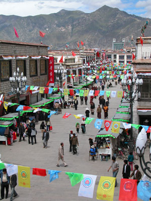 Lhasa, Tibet - Flags Everywhere for the 40th Anniversary of the Tibet Autonomous Region