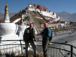 Lhasa, Tibet - Dad, me, and Potala