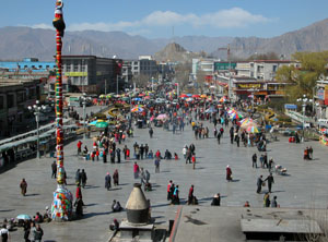 Barkhor Square during Tibetan New Year