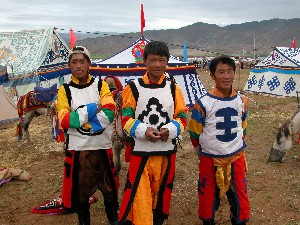 Road to Sakya, Tibet - Horse Festival Riders