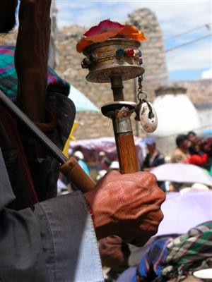 Samye, Tibet - Prayer Wheel