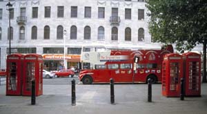 London, England - Bus and Booth