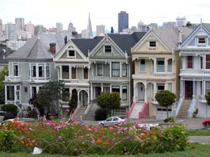 California - San Francisco Postcard Homes