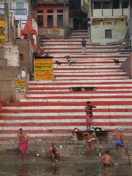 Morning ritual and cleaning in Varanasi