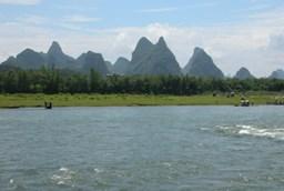 Karst topography near Yangshuo