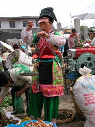 A Yi woman at the market