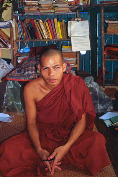 Friendly Monk in Bago, Myanmar (Burma)
