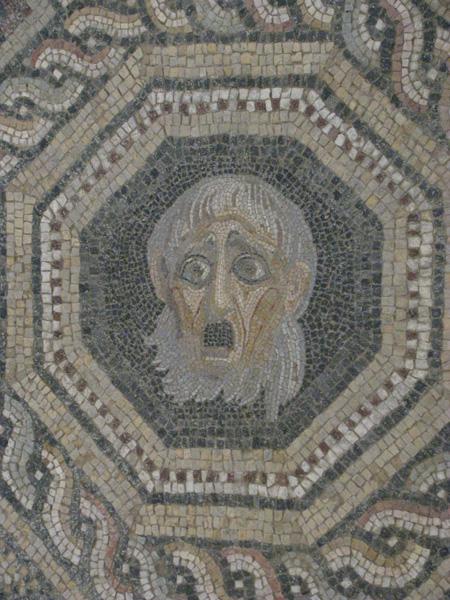 Bergama, Turkey - Pergamum Acropolis Ruins Mosaic