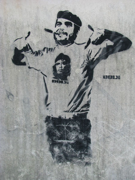 Che Wearing a Che T-Shirt