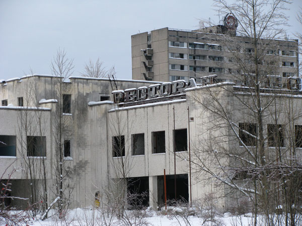 Chernobyl, Ukraine - Prypyat Town is Deserted and Eerie