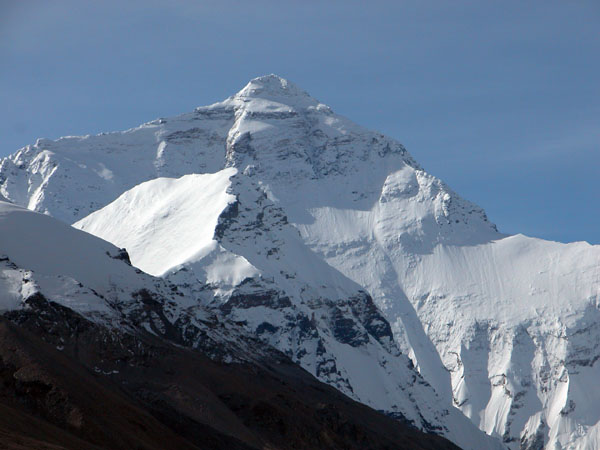 Mt. Everest, or Qomolangma to the Tibetans. The Highest Point on Earth, at 8848 Meters