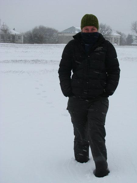 Exploring a Very Cold and Snowy Glinnoye, Transdniestr