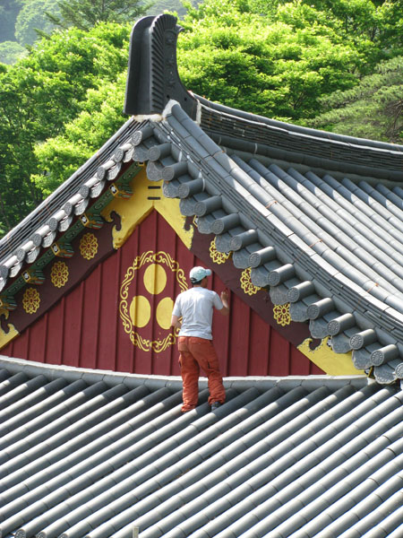 Painter at Haeinsa Temple, South Korea