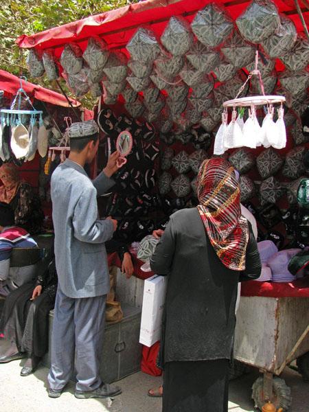 Hotan, China - Sunday Market Hats