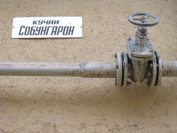 Outdoor Plumbing in Istaravshan, Tajikistan