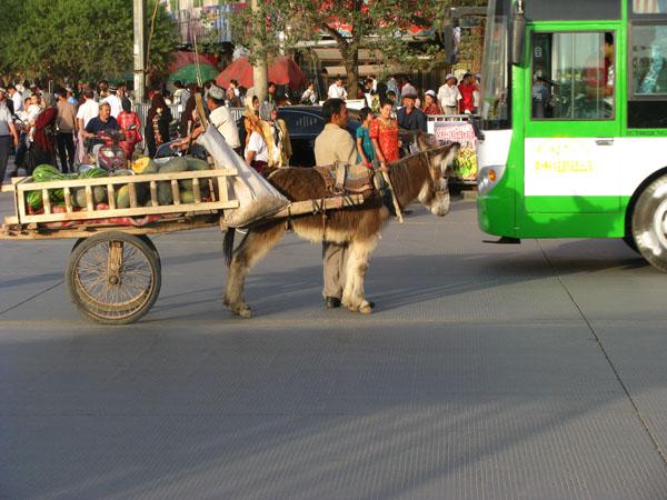 Kashgar, China - Old Town Standoff