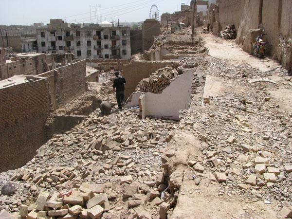 Kashgar, China - Destruction of Old Town