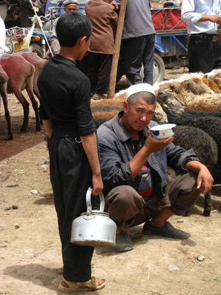 Kashgar, China - Sunday Livestock Market