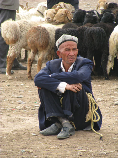 Kashgar, China - Local at Sunday Livestock Market