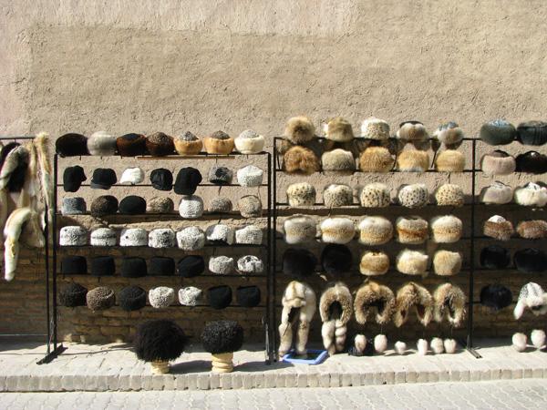 Khiva, Uzbekistan - Old Town Hats for Sale