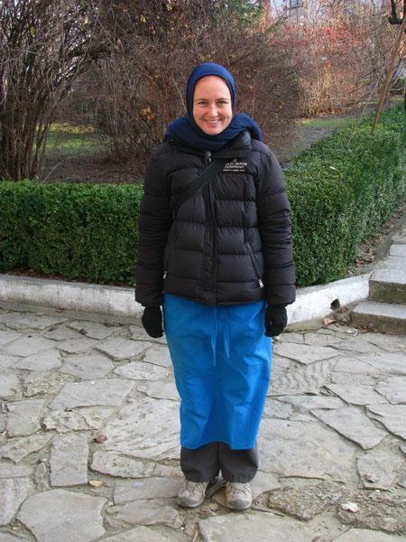 What Rhona had to Wear at Kitskane Monastery