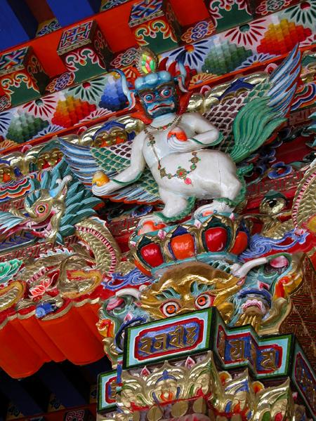 Monastery Detail in Langmusi, China