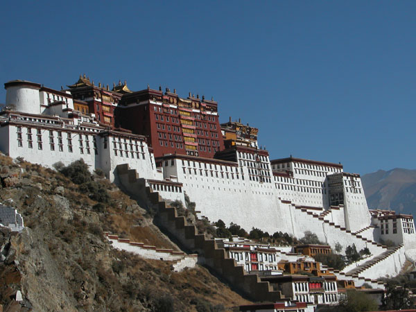 Lhasa, Tibet - Potala Palace, the former Winter Palace of the Dalai Lama