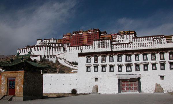 Lhasa, Tibet - Potala Palace, the former Winter Palace of the Dalai Lama