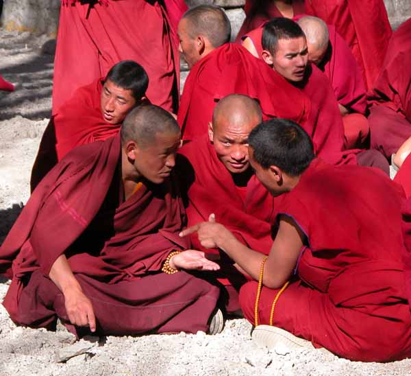 Debating Monks at Sera Monastery in Lhasa, Tibet