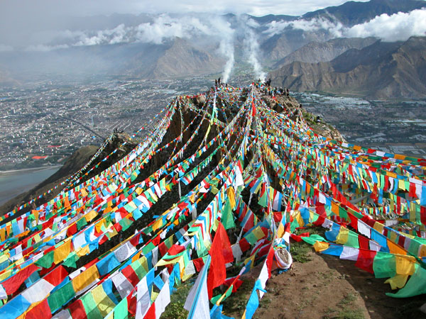 Celebration on Bumpo Ri Near Lhasa, Tibet
