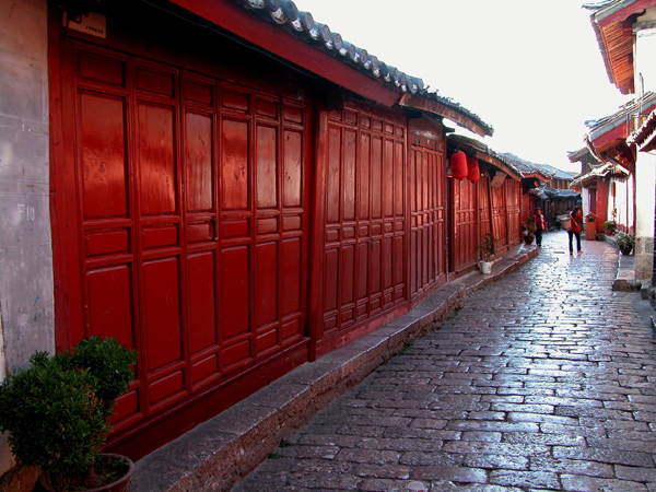 Quiet Street of Lijiang, China, Before the Start of the Day