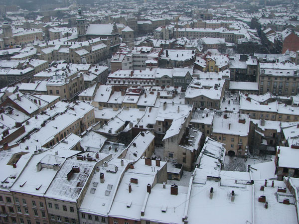 Lviv, Ukraine - View of the City from Town Hall Tower