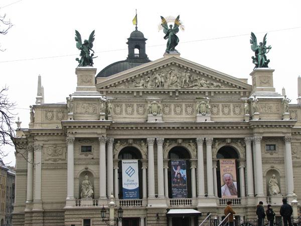 Lviv, Ukraine - Exterior of Opera and Ballet Theater