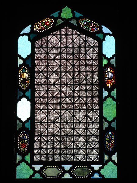 Stained Glass Window of Kordopulov House in Melnik, Bulgaria