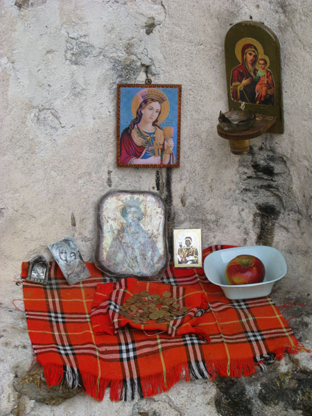 Altar in Melnik, Bulgaria