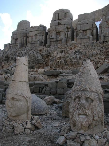 Mt Nemrut, Turkey - Statues around Royal Tomb