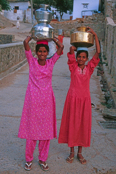 Girls Getting Water for the Evening in Mt. Abu, India