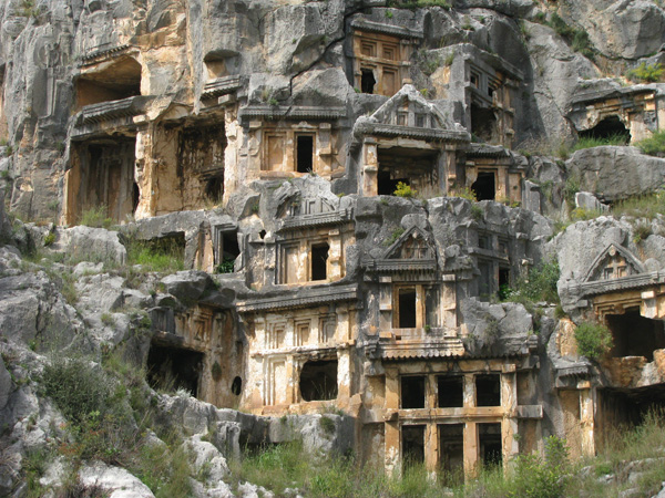 Myra, Turkey - Lycian Rock Tombs