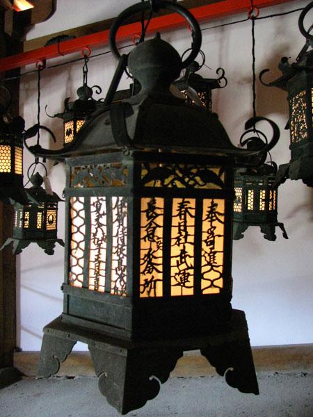 Lanterns at Kasuga-Taisha in Nara, Japan