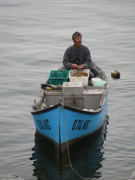 Cleaning the Catch in Nesebar, Bulgaria