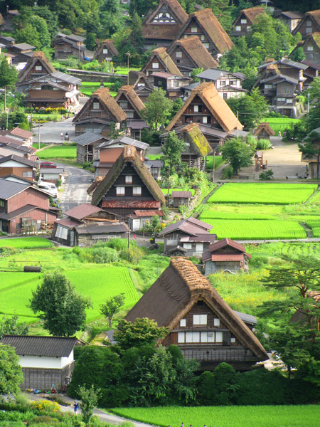 Ogimachi, Japan - World Heritage Listed for Thatch Roofed Homes