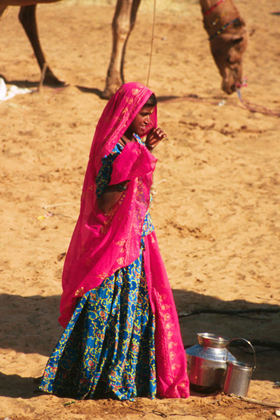 Color in the Desert at the Camel Fair in Pushkar, India