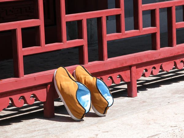 Monk Shoes in Putuoshan, China