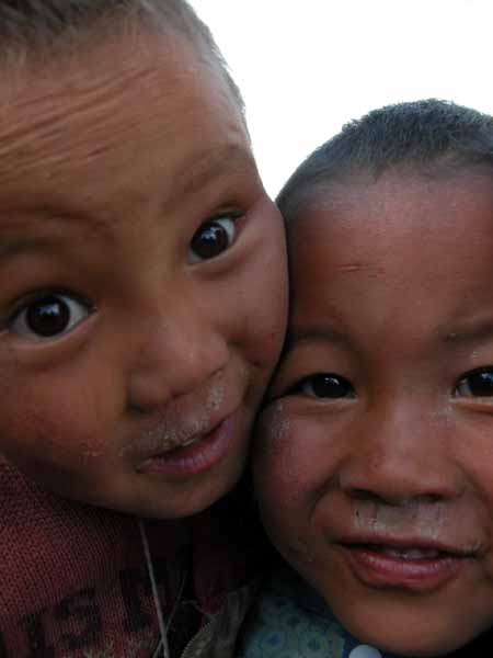 Tibetan Boys Up Close and Personal
