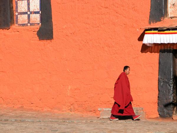 Monk of Tashilhunpo Monastery in Shigatse, Tibet