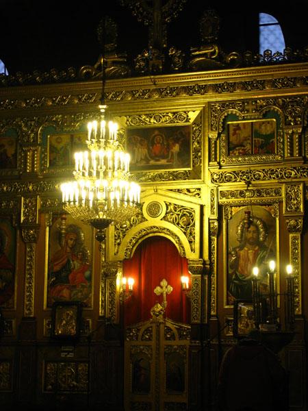 Iconostasis of St. Nedelia Church in Sofia, Bulgaria