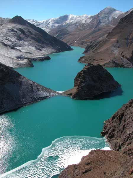 Reservoir on the Friendship Highway, Tibet