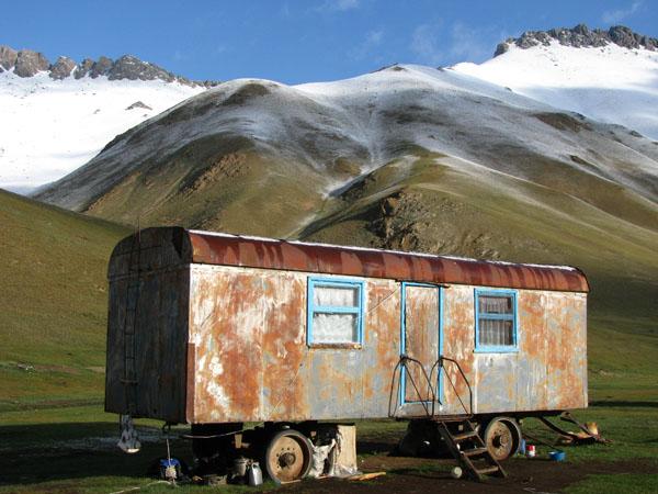 Tash Rabat, Kyrgyzstan - Shepherds Wagon